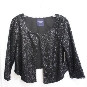NWT American Eagle Outfitter black sequin cardigan